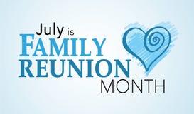 Juillet est mois de la Réunion de famille Images stock