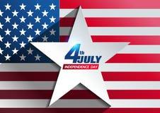 4 juillet fond de Jour de la Déclaration d'Indépendance illustration de vecteur