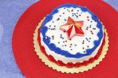 4 juillet gâteau décoré Images libres de droits