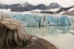 14 juillet glacier - le Spitzberg - le Svalbard Photographie stock libre de droits