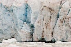 14 juillet glacier - le Spitzberg - le Svalbard Images stock