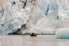 14 juillet glacier - le Spitzberg - le Svalbard Photo libre de droits