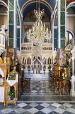 21 juillet 2015 - intérieur d'une vieille église orthodoxe en île de Kimolos, Cyclades, Grèce Photos stock