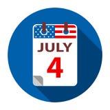 4 juillet Jour de la Déclaration d'Indépendance Photographie stock libre de droits