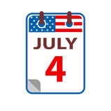 4 juillet Jour de la Déclaration d'Indépendance Image stock