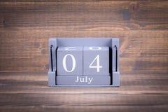 4 juillet Jour de la Déclaration d'Indépendance américain Photo libre de droits