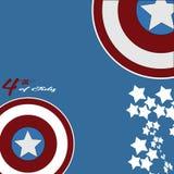 4 juillet Jour de la Déclaration d'Indépendance Fond d'étoiles et de capitaine Americao Illustration Stock