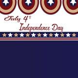 4 juillet Jour de la Déclaration d'Indépendance Fond d'isolement par Americao d'étoiles et de capitaine Image libre de droits