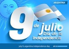 9 juillet Jour de la Déclaration d'Indépendance de l'Argentine illustration de vecteur
