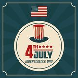 4 juillet Jour de la Déclaration d'Indépendance uni indiqué de l'Amérique illustration stock