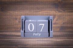 7 juillet Jour international des coopératives Images libres de droits