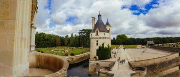 23 juillet 2017 le château de Chenonceau france La façade du château médiéval des dames Le château médiéval royal Photographie stock libre de droits