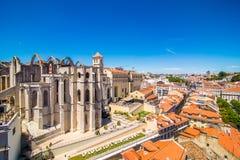 10 juillet 2017 - Lisbonne, Portugal Église de Carmo à Lisbonne, Portugal photos stock