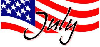 Juillet patriotique Image stock