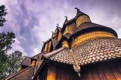 18 juillet 2015 : Plan rapproché de Heddal Stave Church dans Telemark, Norw Image stock