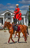25 juillet 2015 Présentation cérémonieuse de l'école d'équitation de Kremlin sur VDNH à Moscou Image libre de droits