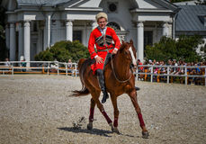 25 juillet 2015 Présentation cérémonieuse de l'école d'équitation de Kremlin sur VDNH à Moscou Images stock