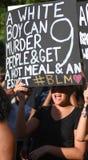 13 juillet 2016, protestation noire de matière des vies, Charleston, Sc Photo stock