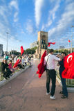 15 juillet protestations de tentative de coup à Istanbul Photo libre de droits