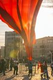 15 juillet protestations de tentative de coup à Istanbul Photographie stock