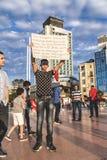 15 juillet protestations de tentative de coup à Istanbul Photo libre de droits