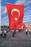 15 juillet protestations de tentative de coup à Istanbul Photo stock