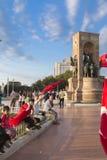15 juillet protestations de tentative de coup à Istanbul Photo stock