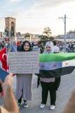 15 juillet protestations de tentative de coup à Istanbul photographie stock libre de droits