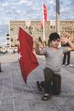 15 juillet protestations de tentative de coup à Istanbul Images stock