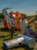 26 juillet 2015 Red Bull Flugtag Avant les débuts de concurrence Images libres de droits
