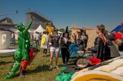 26 juillet 2015 Red Bull Flugtag Avant les débuts de concurrence Images stock