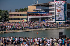 26 juillet 2015 Red Bull Flugtag Avant les débuts de concurrence Photo stock