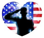 4 juillet salut de Jour de la Déclaration d'Indépendance Images stock