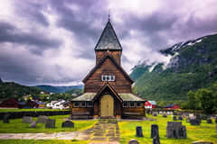 21 juillet 2015 : Stave Church de Roldal, Norvège Photos stock
