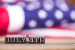 4 juillet thème patriotique de vacances Photo stock