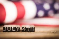 4 juillet thème patriotique de vacances de vintage Image stock
