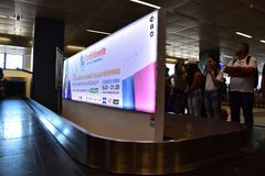 2016 juillet Verona Italy - aéroport Vérone de foyer Images stock