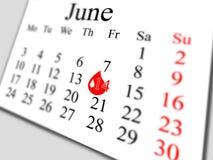 Juin 2013 Image stock