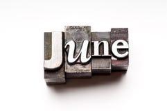 Juin Image libre de droits