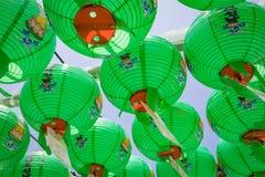 23 juin 2017 centaines de lanternes accrochant hors du te de Bulguksa Images stock