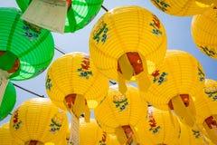 23 juin 2017 centaines de lanternes accrochant hors du te de Bulguksa Image stock