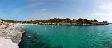 15 juin 2017, Felanitx, Espagne - vue panoramique de plage de Cala Marcal Photographie stock