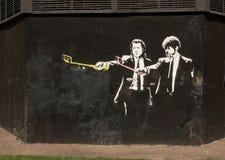 22 juin 2016, graffiti de MOSCOU, RUSSIE Pulp Fiction Selfie par le bourdonnement Photo libre de droits