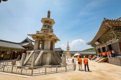 23 juin 2017 la pagoda en pierre Dabotap au temple de Bulguksa dans Gyeo Photographie stock libre de droits