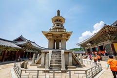23 juin 2017 la pagoda en pierre Dabotap au temple de Bulguksa dans Gyeo Image stock