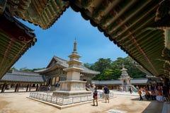 23 juin 2017 la pagoda en pierre Seokgatap au temple de Bulguksa en GY Photos stock