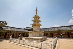23 juin 2017 la pagoda en pierre Seokgatap au temple de Bulguksa en GY Photos libres de droits