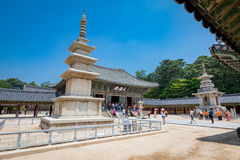 23 juin 2017 la pagoda en pierre Seokgatap au temple de Bulguksa en GY Image stock