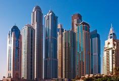4 JUIN : La zone résidentielle de la marina de Dubaï Photo stock