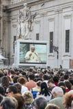 14 juin 2015 Le congrès d'Ecclesial du diocèse de Rome Images stock